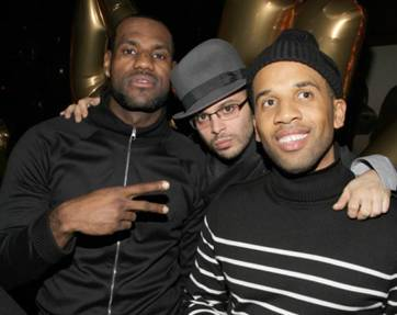 lebron james nyc party photo